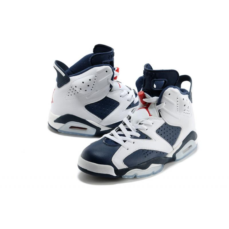 "detailed look 61ffd c8b0b ... New Air Jordan 6 Retro ""Olympic"" White Midnight Navy-Varsity Red New ..."