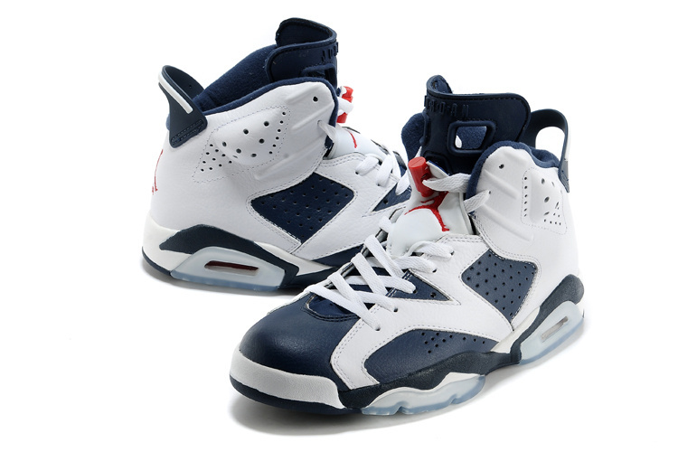 "b1a577875c6 New Air Jordan 6 Retro ""Olympic"" White/Midnight Navy-Varsity Red New ..."