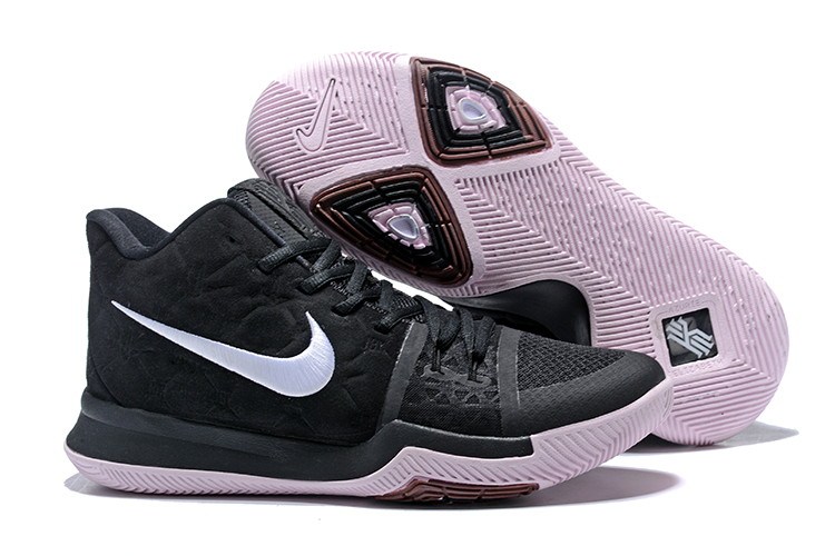 """0760952f9960 Top Deals Nike Kyrie 3 """"Silt Red"""" Black White-Silt Red"""