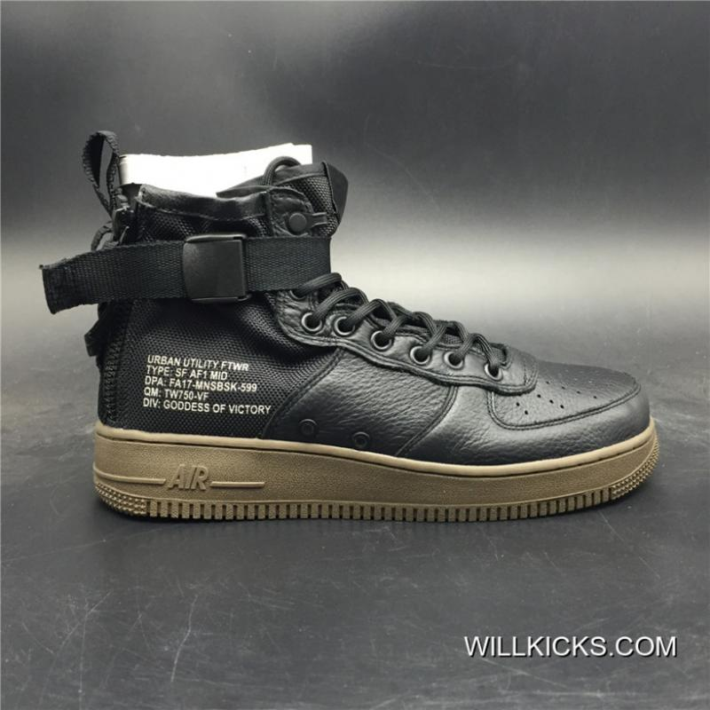 Nike Air Force 1 Special Field AF 1 Mid Black New Release ...