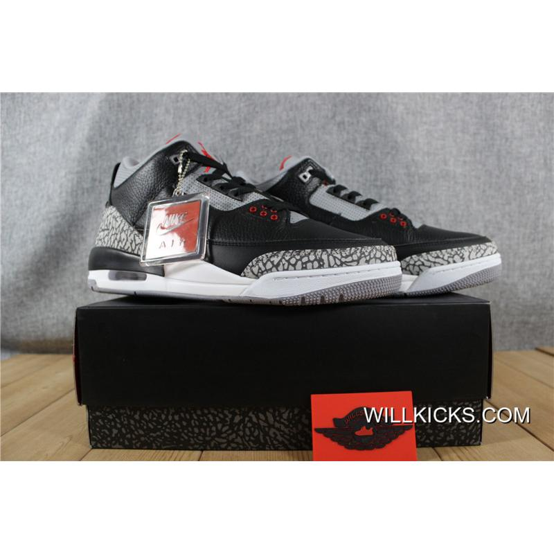 sports shoes d3754 8eb37 2nd Air Jordan 3 Black Cement Discount
