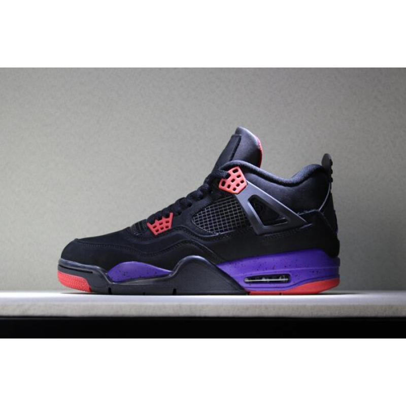 "Air Jordan 4 NRG ""Raptors"" Black University Red-Court Purple AQ3816- ... a88f7797b"
