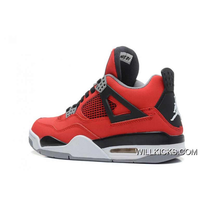 "5853b37b5d85 ... New Year Deals New Air Jordan 4 Retro ""Toro Bravo"" Fire Red White ..."