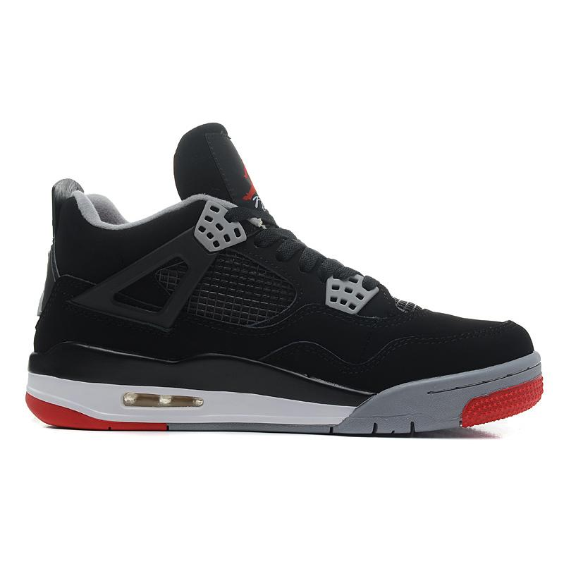 """34d64840c4df4e For Sale New Air Jordan 4 """"Bred"""" Black Cement Grey-Fire Red ..."""