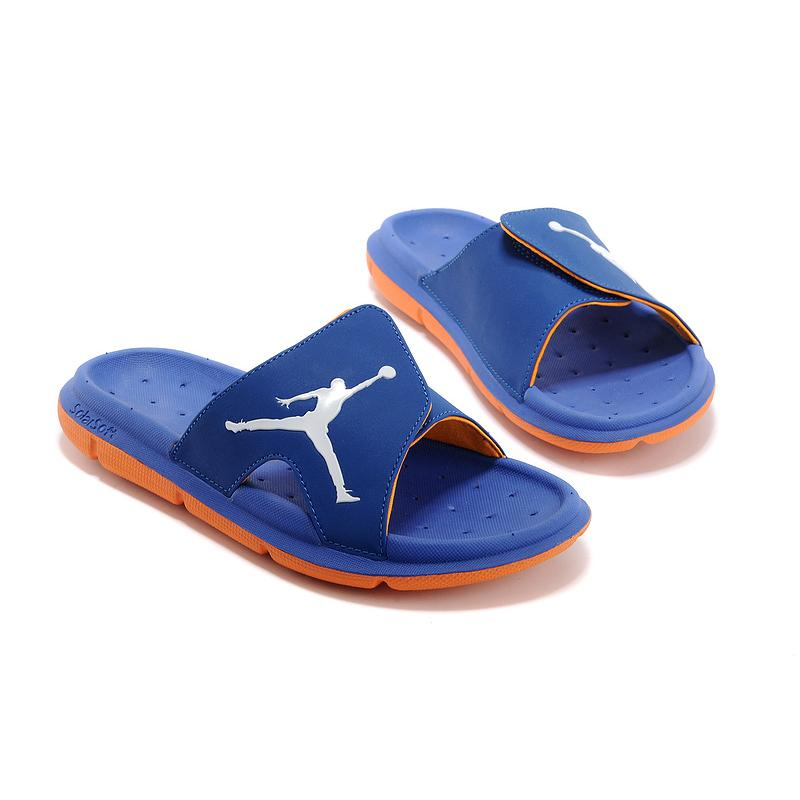 6dca4e060912 New Release Air Jordan Hydro Slide Sandals French Blue Orange White ...