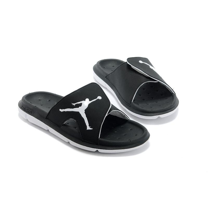 f17d478bf0a53b Air Jordan Hydro Slide Sandals Black White Super Deals ...