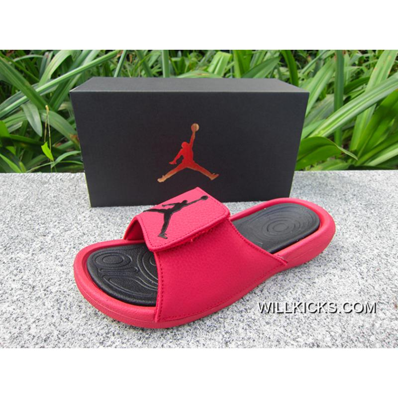 7b8172a942c0f1 Air Jordan Hydro 6 Sandals Gym Red Black Online ...