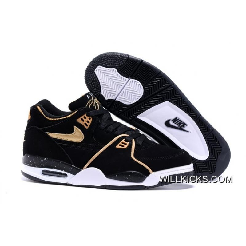 c29c353a13332 Outlet Nike Air Flight  89 Black Metallic Bronze-White Shoes ...