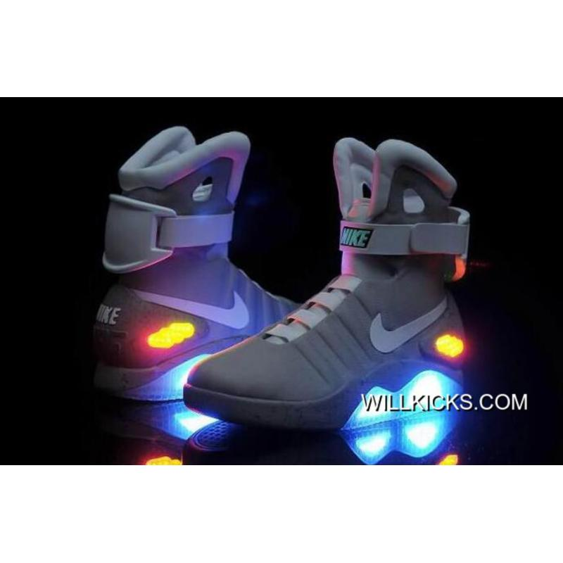 Nike Air Mag Back To The Future II Marty McFly Grey Top Deals, Price