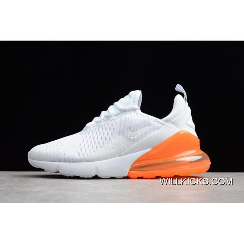 Nike Air Max 270 White/Total Orange Mens And WMNS Free Shipping
