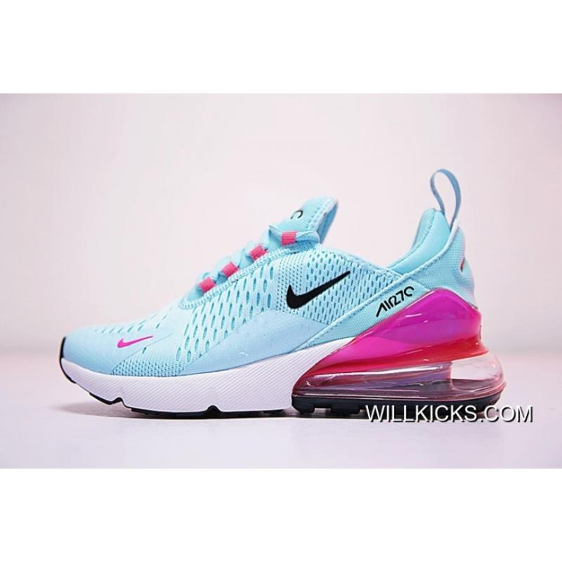 on sale e49c5 8afa1 WMNS Nike Air Max 270 Blue Pink Grade School For Sale ...