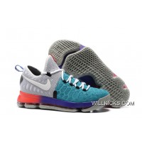 7cbd306dcc0 Nike KD 9 Light Grey White-Aqua Super Deals