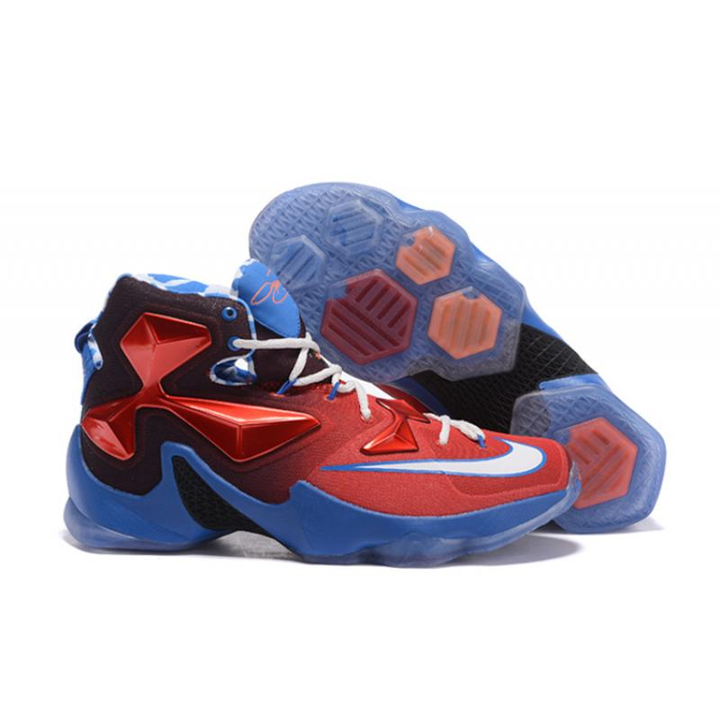 "68c57c2b8871 Nike LeBron 13 ""USA"" Red White-Blue Basketball Shoes Top Deals ..."