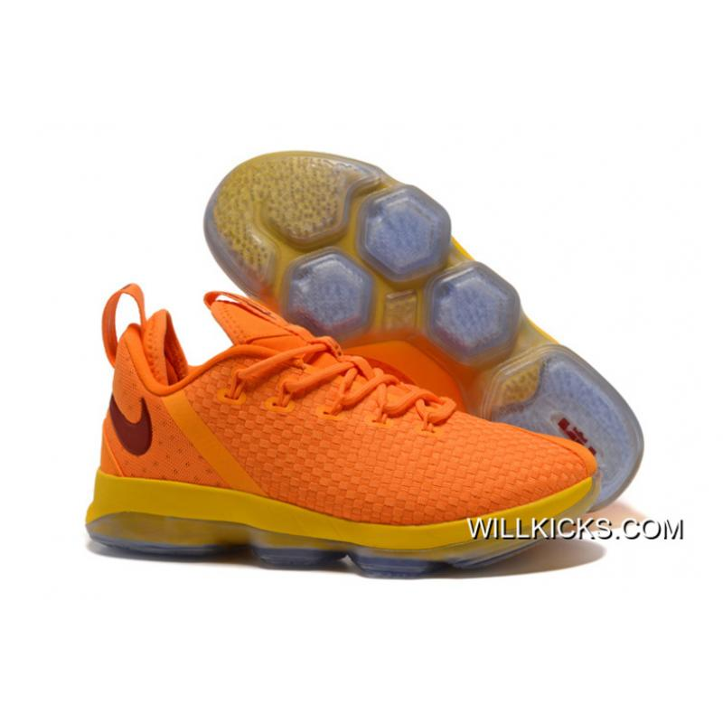 "f754518a380638 Nike LeBron 14 Low ""Cavs"" Bright Yellow Copuon ..."