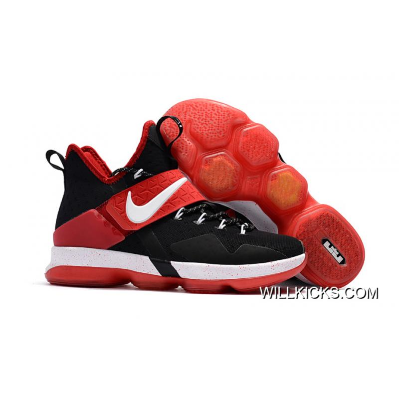 new concept b04f5 c6bc6 Nike LeBron 14 Black/Red-White New Style