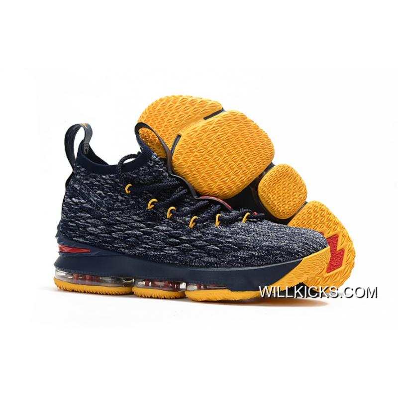 a510be59b43 Nike LeBron 15 Navy Blue Yellow-Red Discount ...