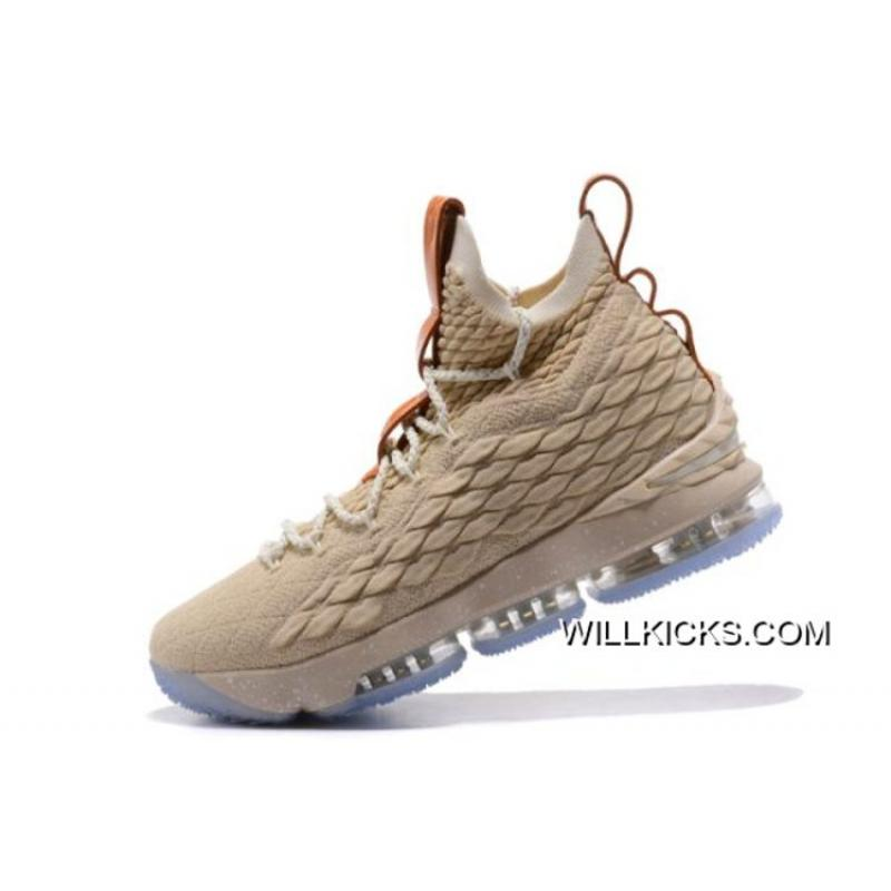"d4399613704 Buy Now Nike LeBron 15 ""Ghost"" String Vachetta Tan-Sail Basketball Shoes ..."