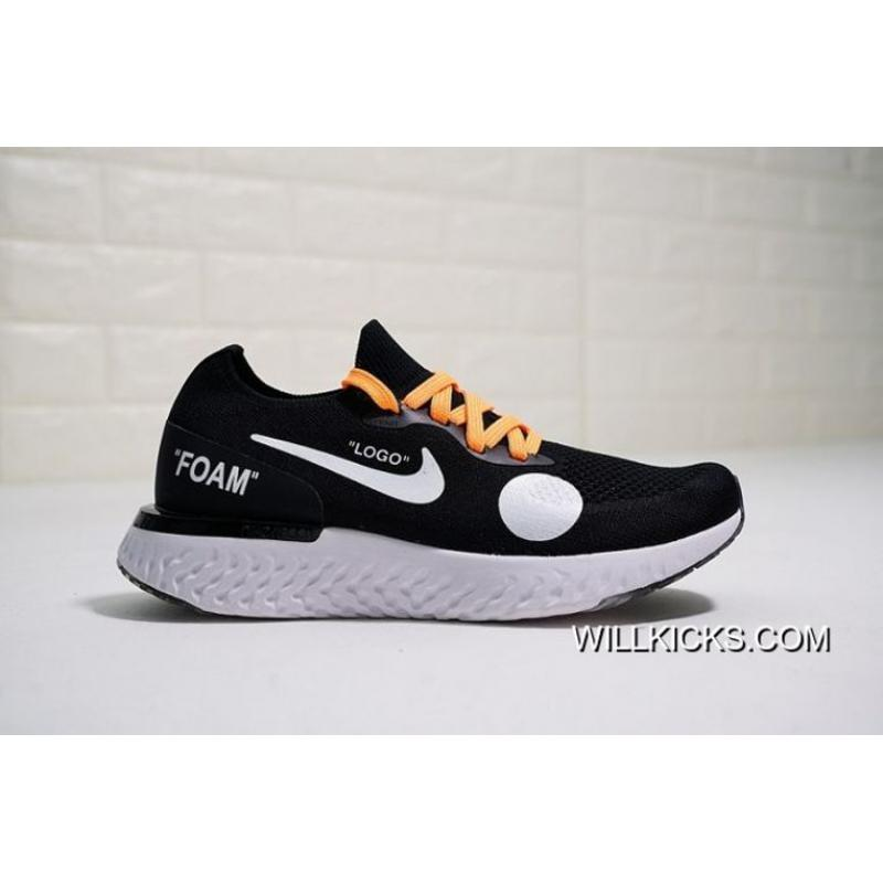 1d2093fbb912 Men OFF-WHITE X Nike Epic React Flyknit Running Shoe SKU 35228-314 ...