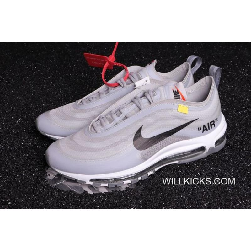 9f851d8627e5 New Release Men OFF-WHITE X Nike Air Max 97 Running Shoes SKU 86006 ...