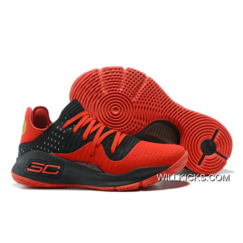 Under Armour Curry 4 Low Red Black