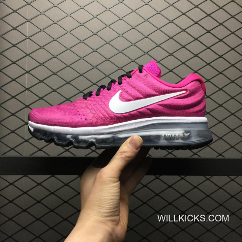 Nike AIR MAX2017 Mesh Breathable Full palm Cushion Cushioning Running Shoes Women Shoes 918091 600 13 New Release