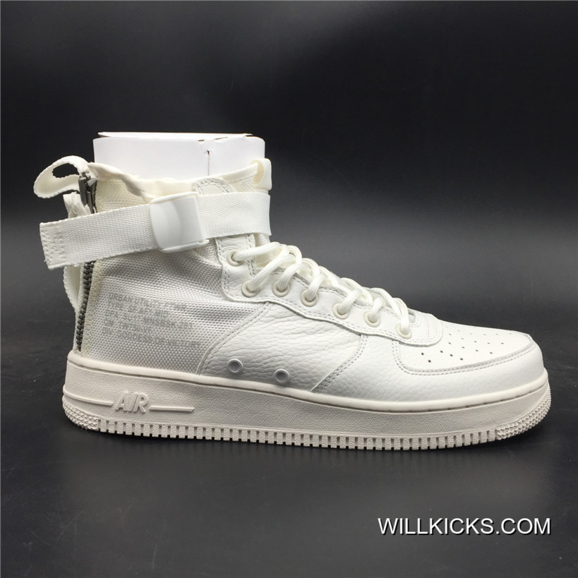 Nike Air Force 1 SF-AF1 Mid Triple White New Release ca13e0f6a