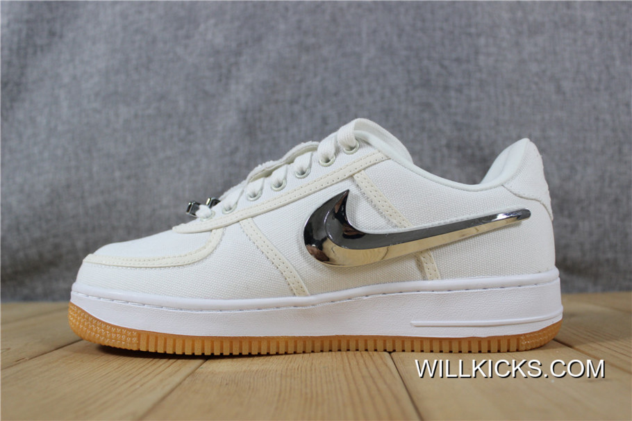 sports shoes c79c4 331b9 Nike Air Force 1 Travis Scott Free Shipping