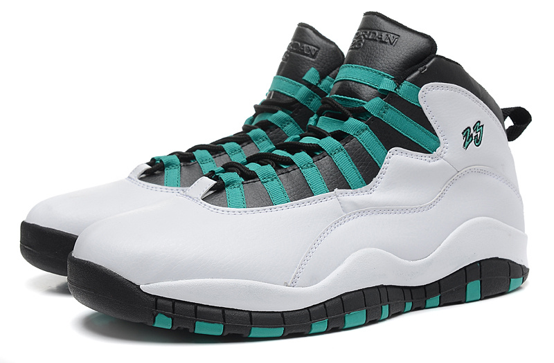 "e9b338fc6a76f4 New Air Jordan 10 Retro ""Verde"" White Verde-Black-Infrared 23 Latest ..."