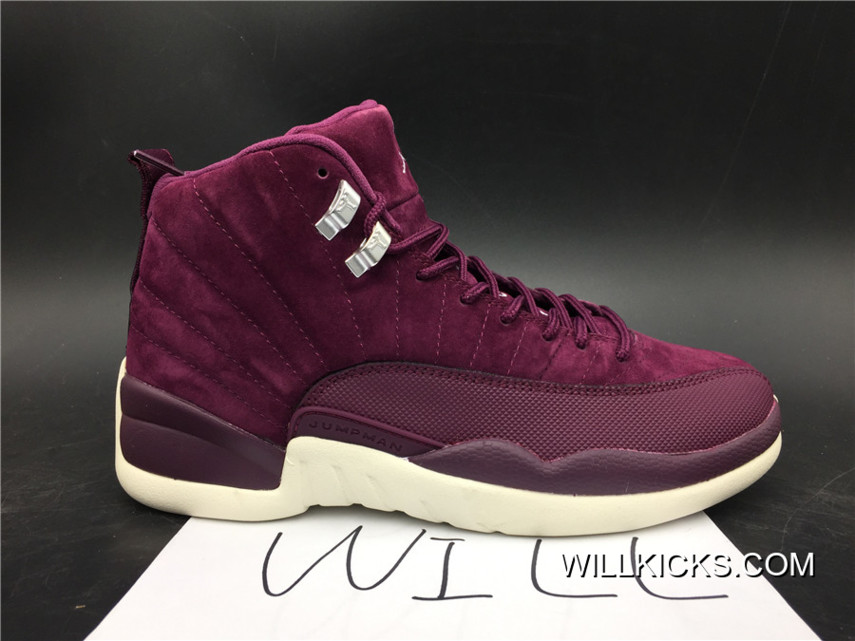 "official photos e56d6 ba958 PSNY X Air Jordan 12 ""Bordeaux"" Bordeaux Metallic Silver-Sail Lastest"