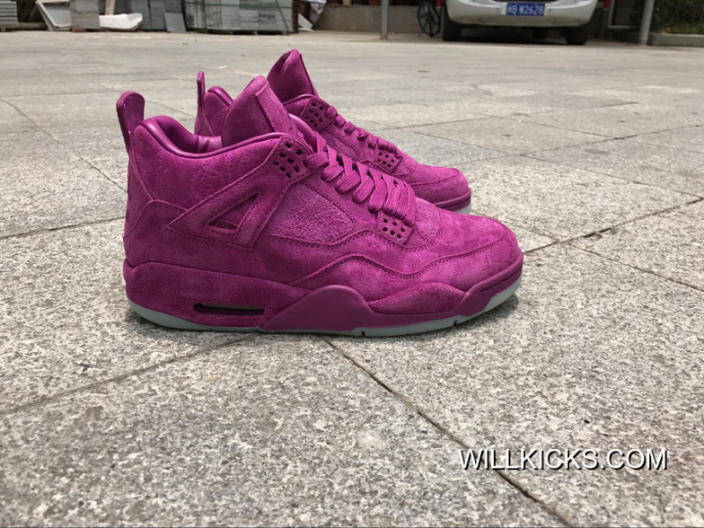 check out b3a52 bbbc1 Authentic AJ 4 KAWS X Air Jordan 4 'purple' Best