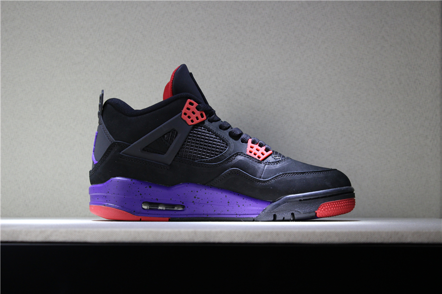 "Air Jordan 4 NRG ""Raptors"" Black University Red-Court Purple AQ3816 ... 3d7a20636"