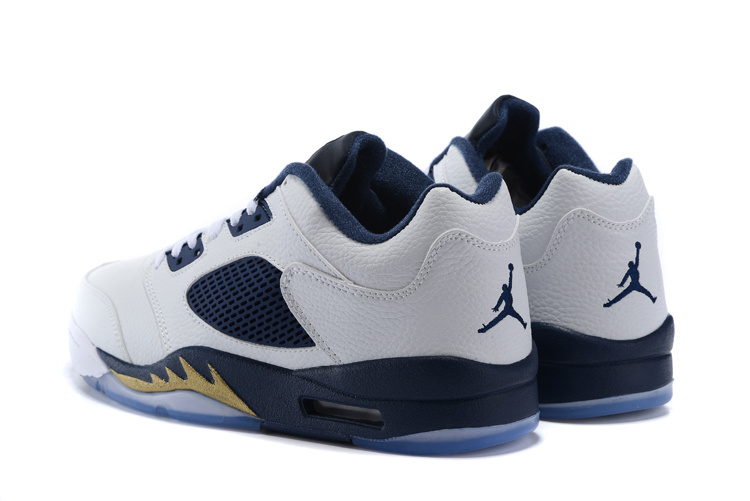 "68ab0d40c67082 Air Jordan 5 Low ""Dunk From Above"" White Metallic Gold Star-Midnight ..."