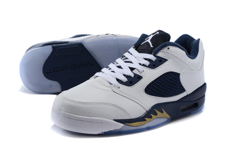 """ae3cb1982acc77 Air Jordan 5 Low """"Dunk From Above"""" White Metallic Gold Star-Midnight ..."""