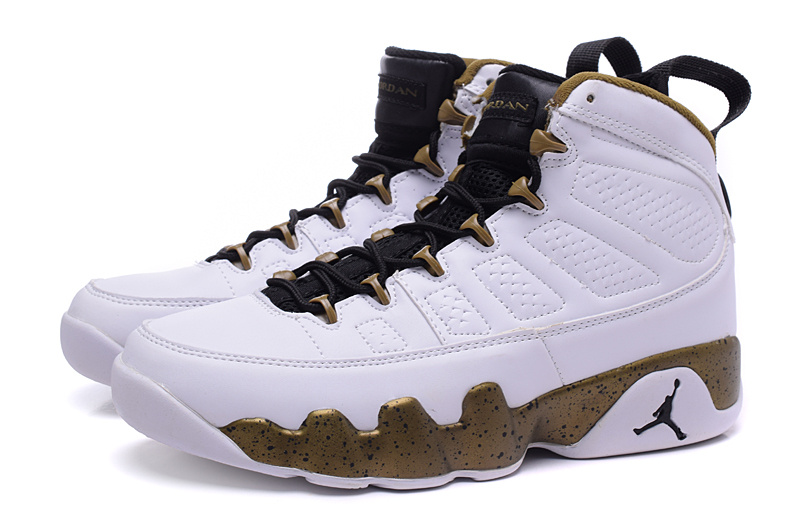 "3568f5274f16 Outlet New Air Jordan 9 ""Copper Statue"" White Black-Militia Green ..."