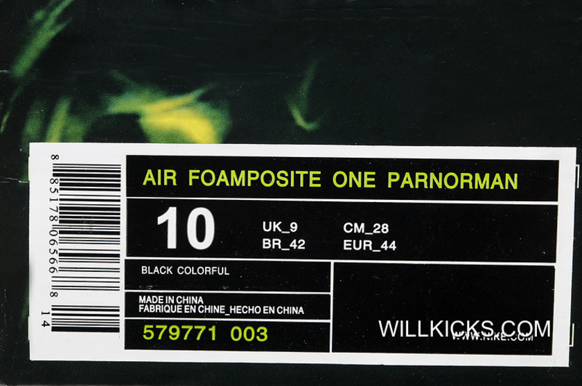 Nike Air Foamposite One ParaNorman Black Colorful 579771-003 Best