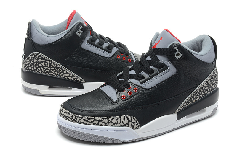 "newest 3509f 64819 New Air Jordan 3 Retro ""Black Cement"" Black/Varsity Red-Cement Grey Discount"