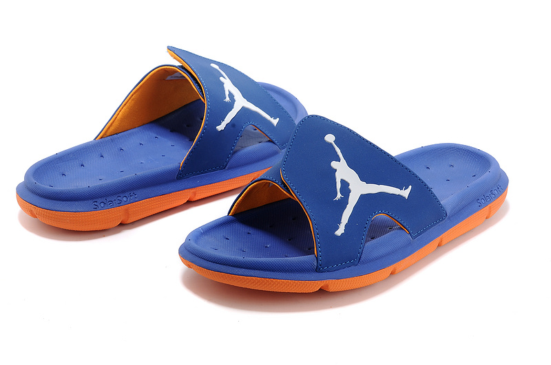 New Release Air Jordan Hydro Slide Sandals French Blue Orange White ... f09b23cac