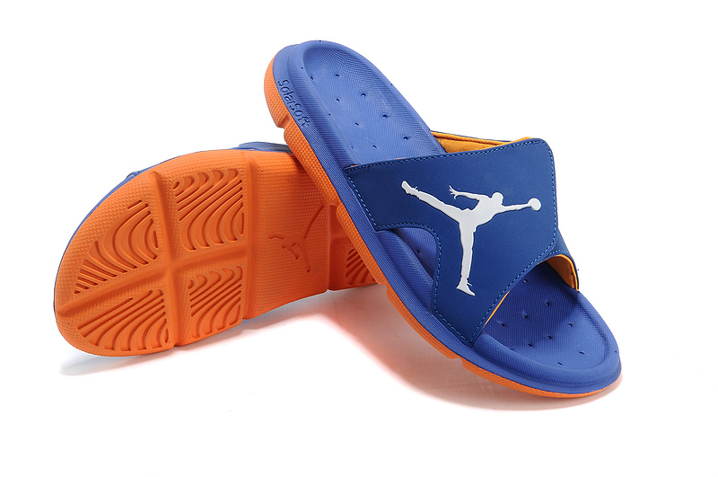 low priced 8c0c2 a55cb New Release Air Jordan Hydro Slide Sandals French Blue Orange White