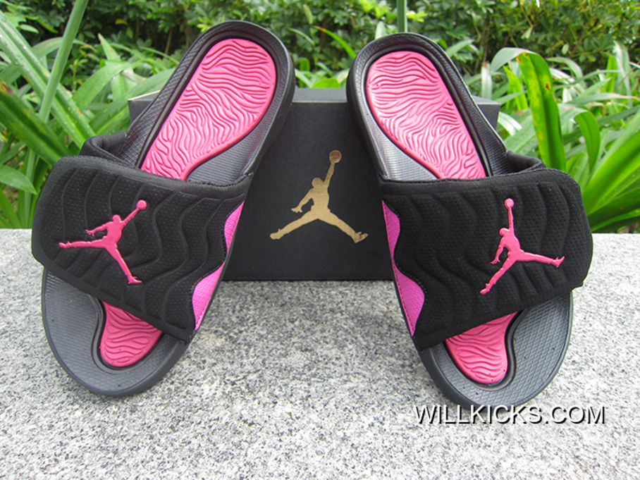 943079bb89e262 Super Deals WMNS Jordan Hydro V Retro Sandals Pink Black