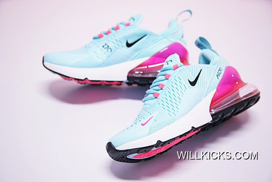 WMNS Nike Air Max 270 Blue Pink Grade School For Sale
