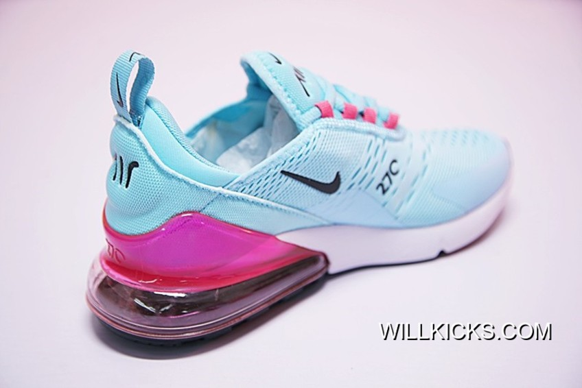 new style b093e 2ec96 WMNS Nike Air Max 270 Blue Pink Grade School For Sale