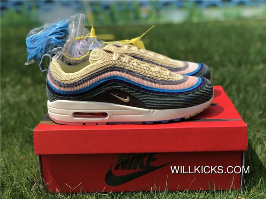 Men Sean Wotherspoon Nike Air Max 97 Hybrid SKU 87388-288 Best ... e51f9889f