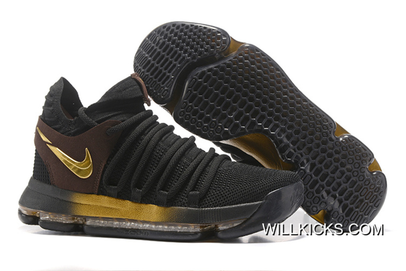 "Latest Nike KD 10 ""Black Gold"" 1a82fb512c"