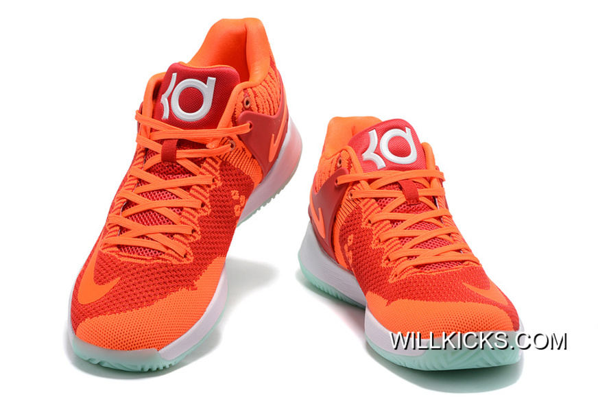 49aa022c520d Nike KD Trey 5 Knit Red Orange White Latest