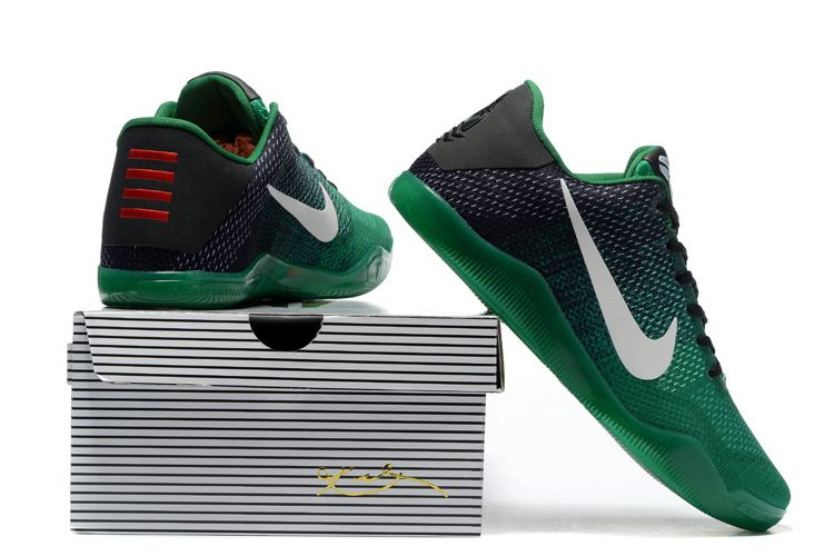 newest 1f73b 41581 For Sale Nike Kobe 11 Black Green Shoes Online Outlet