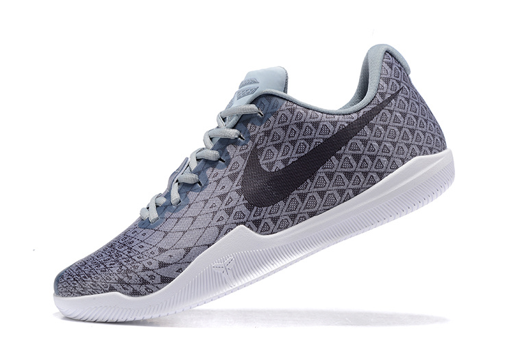 9e9e1100678 Free Shipping Nike Kobe 12 Grey Black-White Men s Basketball Shoe ...