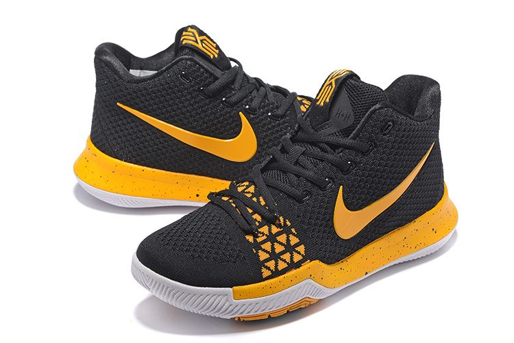 """new arrival a5428 5c0d4 Best Nike Kyrie 3 """"Black Yellow"""""""