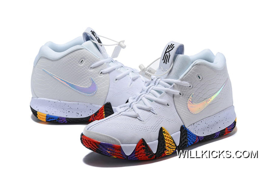 "942ea1f614f2 Nike Kyrie 4 NCAA ""March Madness"" White Multi-Color Copuon"