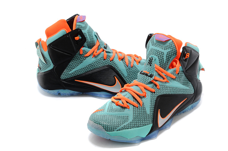 166c56a78c09 Nike LeBron 12 Teal Orange-Black Outlet