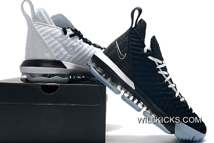 """official photos 36196 7fc99 Nike LeBron 16 """"Equality"""" Black   White Shoes Outlet"""
